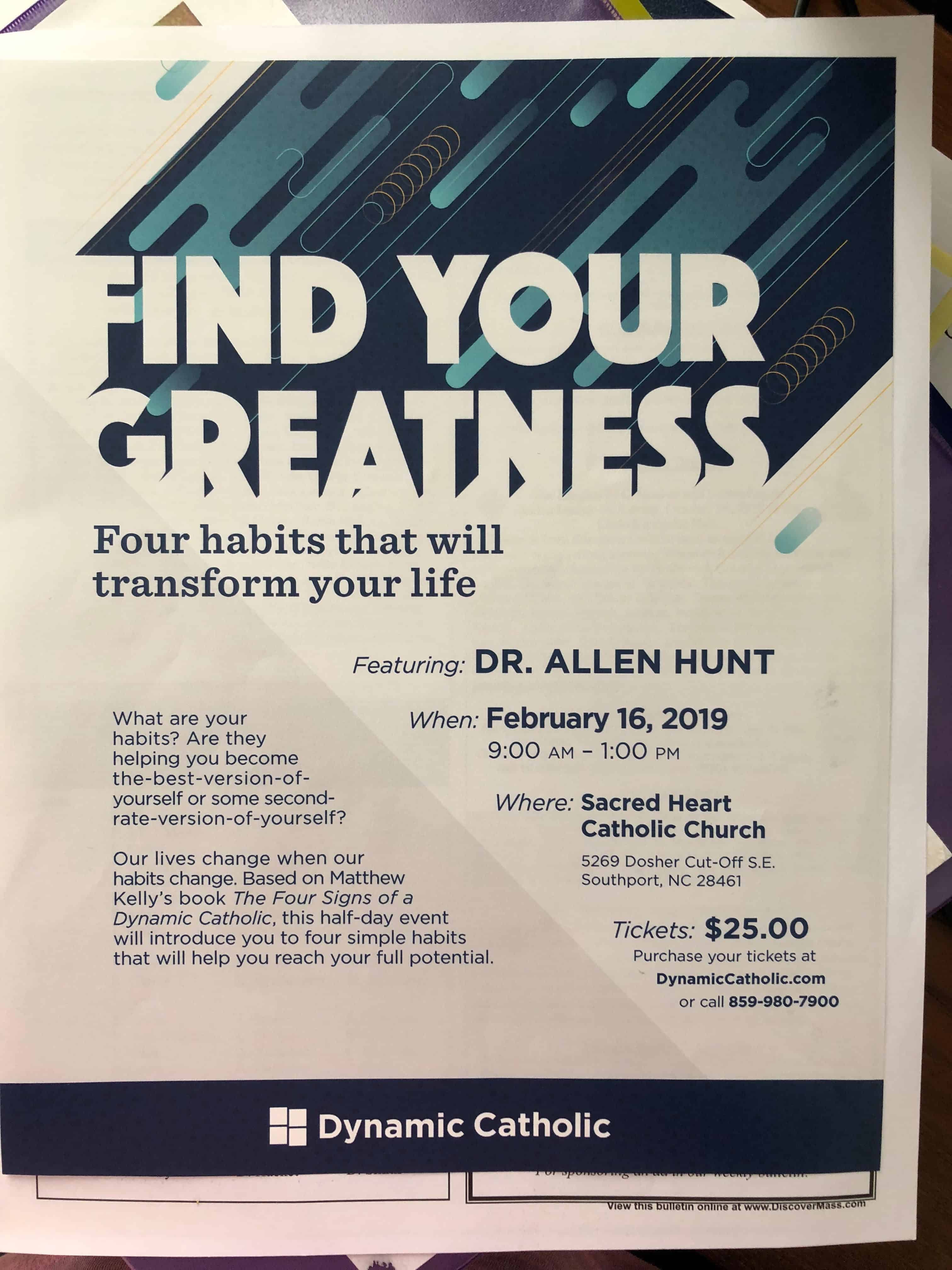 Find Your Greatness – Dr. Allen Hunt